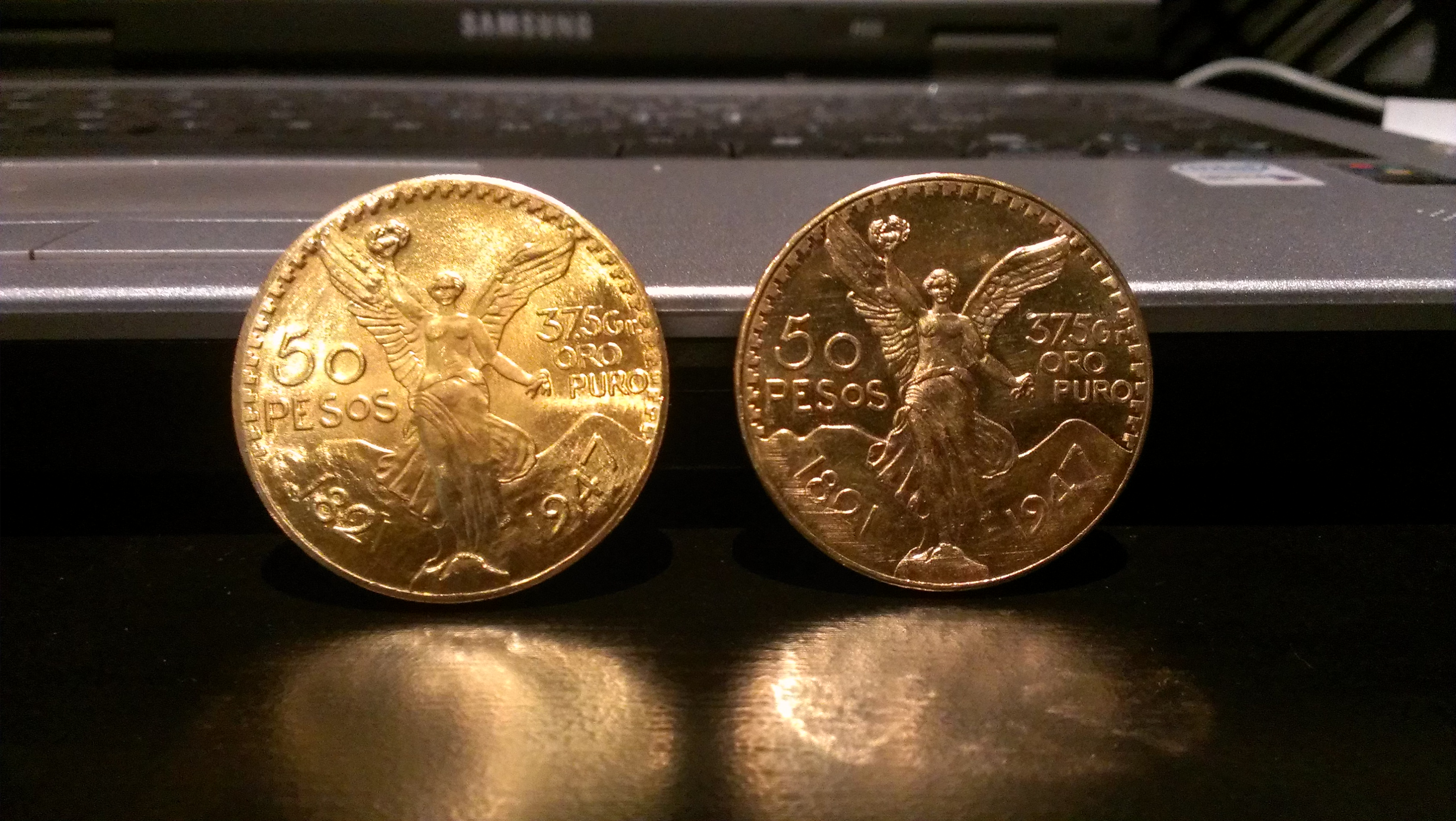 Gold bugs, beware – fake Mex gold peso coins come to Moscow!