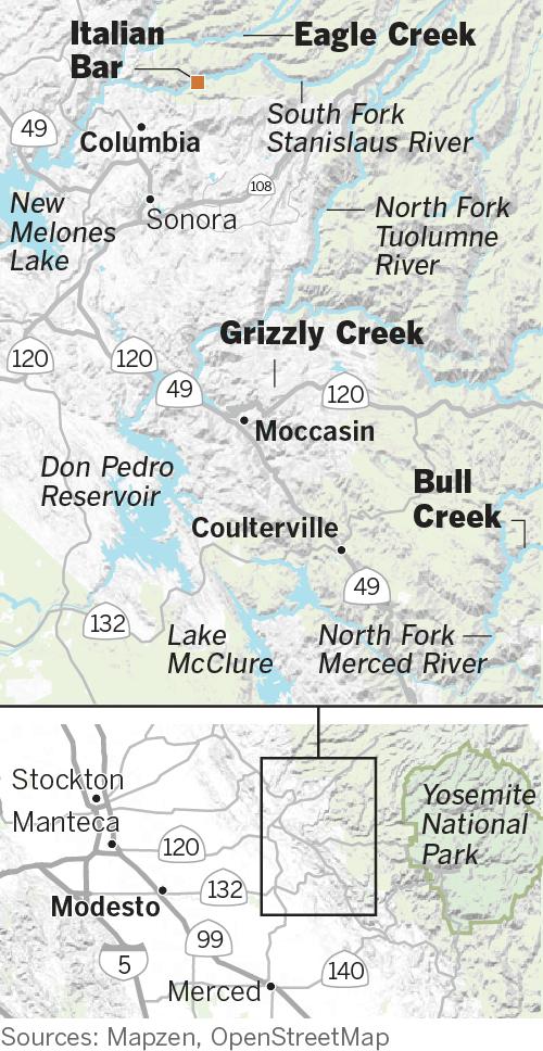 Началась новая золотая лихорадка, вызванная таянием калифорнийских снегов после засухи - в картинках